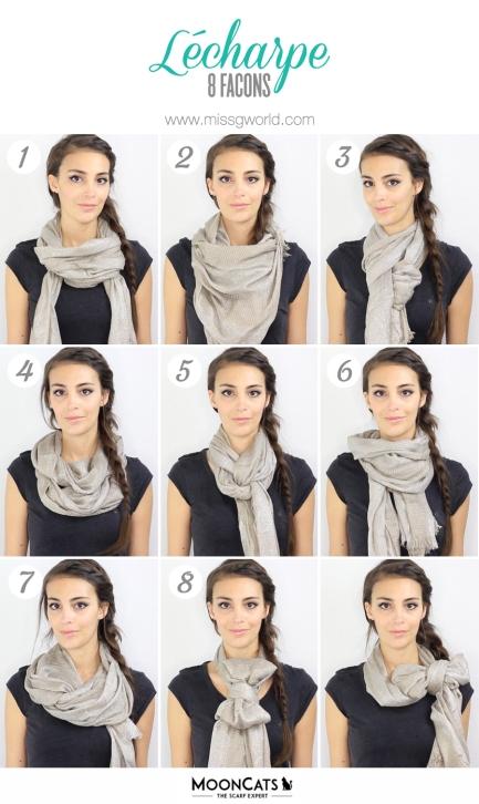 8 façons de nouer une écharpe ou un foulard