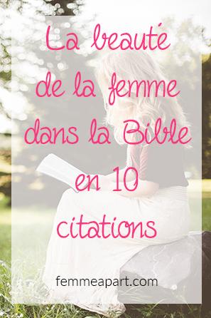 La beauté de la femme dans la Bible en 10 citations – Femme à part