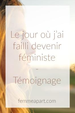 Témoignage féminisme